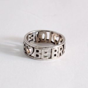 Be Brave Love Life Sterling Silver Ring